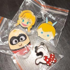 Bundle of 4 Disney Enamel Pins